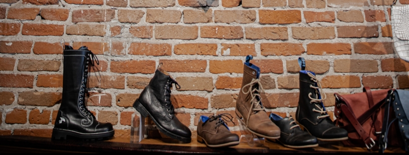 a variety of boots